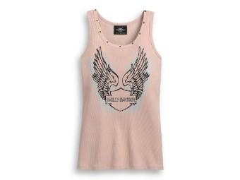 Tank-Top, Harley-Davidson, Winged Logo, Pink