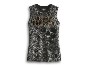 Tank-Top, Allover Print Skull, Harley-Davidson, Mehrfarbig