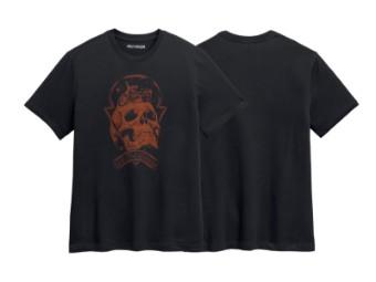 T-Shirt, Skull Space, Harley-Davidson, Schwarz