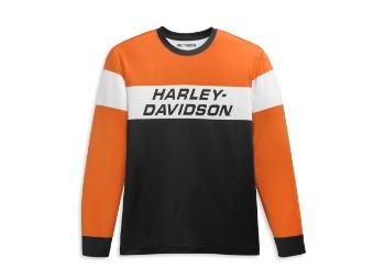 Langarmshirt, Colorblock, Harley-Davidson, Mehrfarbig