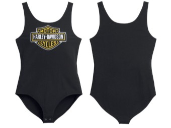 Bodysuit, Bar & Shield, Harley-Davidson, Schwarz