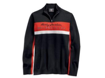 Pullover, Colorblock Ski, Harley-Davidson, Schwarz
