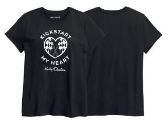 T-Shirt, Kickstart My Heart, Harley-Davidson, Schwarz