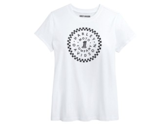 T-Shirt, #1 Circle Graphic, Harley-Davidson, Weiß