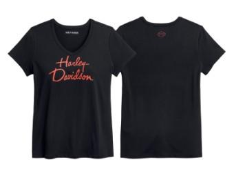 T-Shirt, Script Graphic, Harley-Davidson, Schwarz