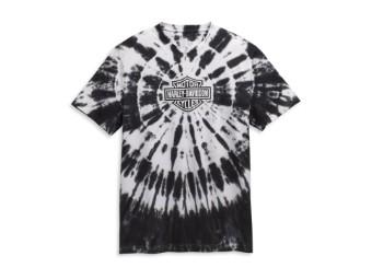 T-Shirt, Tie Dye, Harley-Davidson, Schwarz/Weiß