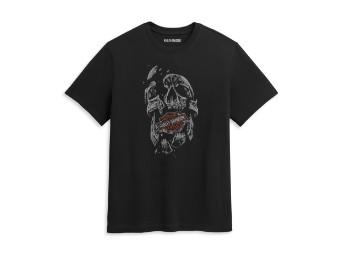 T-Shirt, Shattered Skull, Harley-Davidson, Schwarz