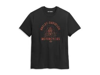 T-Shirt, Drag Racer, Harley-Davidson, Schwarz