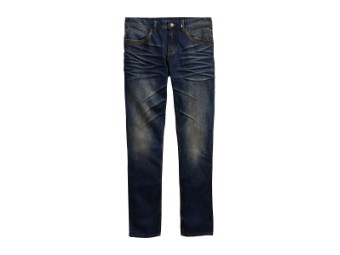 Jeans, Slim Fit, Dirty Wash, Harley-Davidson, Blau