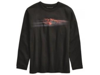 Sweatshirt, Cordura, Slim Fit, Harley-Davidson, Schwarz