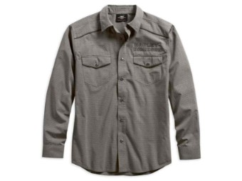 Hemd, Dobby, Harley-Davidson, Grau