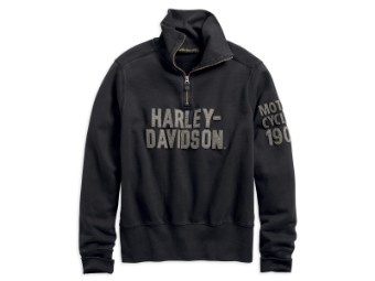 Pullover, Slim Fit, Harley-Davidson, Schwarz