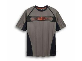T-Shirt, Performance, Coolcore, Harley-Davidson, Grau