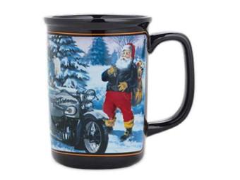 Becher, Keramik, Biker Santa, 290 ml, Harley-Davidson, Schwarz
