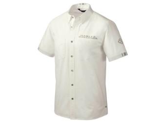 Hemd, Kurzarm, Performance, Mesh, Harley-Davidson, Weiß