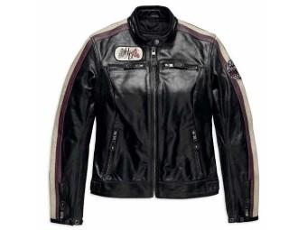 Lederjacke, Almena CE, Harley-Davidson, Schwarz