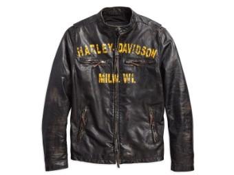Lederjacke, Forge, Slim Fit, Harley-Davidson, Schwarz