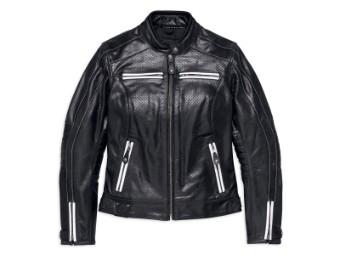 Lederjacke, Zarda Perforated, Harley-Davidson, Schwarz