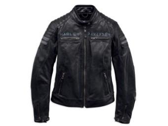 Lederjacke, Wimberley, Harley-Davidson, Schwarz