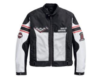 Funktionsjacke, Foxfield Mesh Riding, Harley-Daivdson, Schwarz/Weiß/Orange
