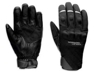 Handschuhe, Farson, Textil/Leder, Schwarz