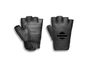 Handschuhe, Smokeshow, Leder, Harley-Davidson, Schwarz