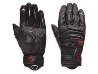 Handschuhe, Tara, Leder, Touchscreen, Harley-Davidson, Schwarz