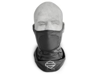 Gesichtsmaske, Reflective Graphic, Neopren, Harley Davidson, Schwarz
