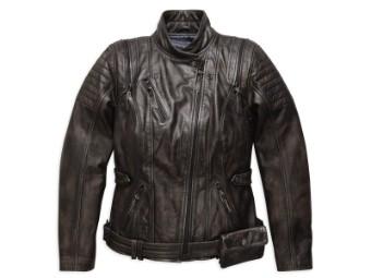 Lederjacke, Brava Convertible, Harley-Davidson, Schwarz