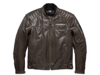 Lederjacke, Edge, Harley-Davidson, Braun