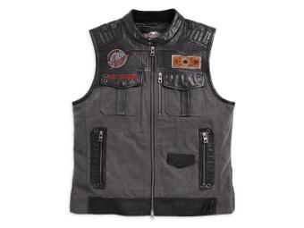 Weste, Victor, Harley-Davidson, Grau