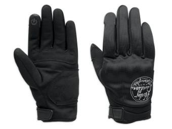 Handschuhe, Parkway, Harley-Davidson, Schwarz