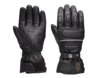 Handschuhe, Wheeler, Leder, Schwarz