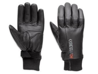 Handschuhe, Leder, Destination, Harley-Davidson, Schwarz