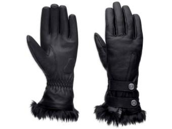 Handschuhe, Leder, Harley-Davidson, Schwarz