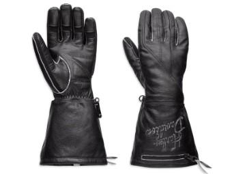 Handschuhe, Gauntlet, Harley-Davidson, Schwarz