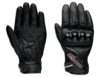 Handschuhe, Leder, Cruiser, Harley-Davidson, Schwarz