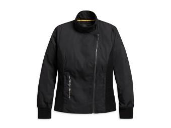 Bikerjacke, Metallic Jacquard, Print Logo, Harley-Davidson, Schwarz