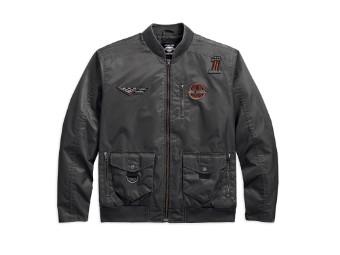 Bomberjacke, Eagle, Harley-Davidson, Grau