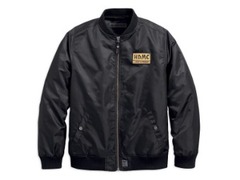 Bomberjacke, HDMC Patch, Slim Fit, Harley-Davidson, Schwarz