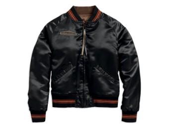 Jacke, Reversible Satin Bomber, Harley-Davidson, Braun