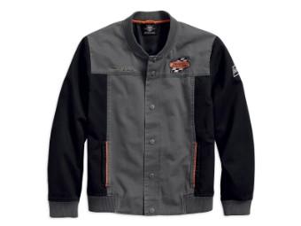 Jacke, Screamin' Eagle, Harley-Davidson, Grau