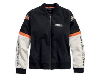 Jacke, Screamin' Eagle, Harley-Davidson, Schwarz/Weiß/Orange