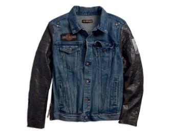 Jacke, #1, Slim Fit, Harley-Davidson, Blau/Schwarz