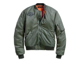 Jacke, Winged Logo Bomber, Harley-Davidson, Olive