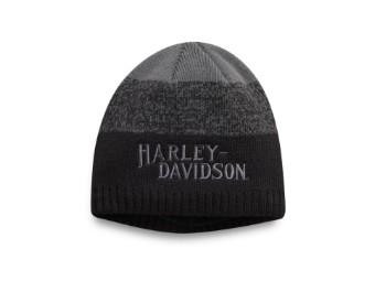Mütze, Space-Dye, Harley-Davidson, Grau/Schwarz