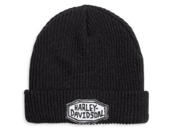 Mütze, Embroidered, Harley-Davidson, Schwarz