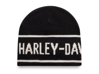 Mütze, Jacquard, Harley-Davidson, Schwarz