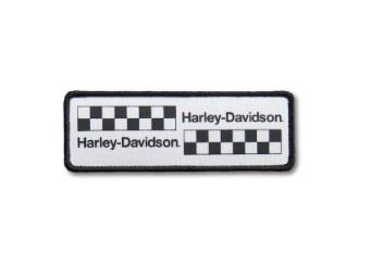 """Aufnäher """"Stagger Flag Iron-On"""", Harley-Davidson, Weiß/Schwarz"""
