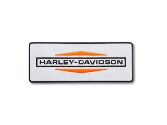 """Aufnäher """"Stacked Logo Large Iron-On"""", Harley-Davidson, Weiß/Orange/Schwarz"""